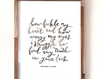 Mumford and Sons Print