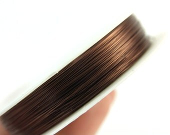 10 meters / 0.3mm Beading Wire, 1 Roll Copper Beading Wire, Non Tarnish Permanently Colored, Brown Beading Craft Wire, Jewelry Making