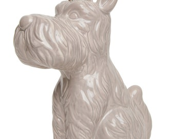 Interior Illusions Scottie Dog With Crown - Grey