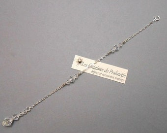 Bijoux mariage de dos en chaine et cristal, pendentif mariage de dos, accessoires mariées, bijoux mariées - Bridal backdrop necklace crystal