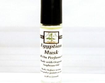 Musk Perfume Oil Women's Roll On Fragrance in Egyptian Musk