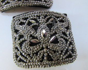 Victorian Shoe Buckles Edwardian Shoe Buckles Steel Cut Buckles French Shoe Buckles Faceted Bead Buckles Vintage Accessories Ladies Fashions