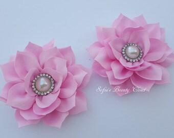 Pink flower hair clip, Pink hair clip, Flower hair clip, Pink flower clip, Kanzashi flower, Pink Kanzashi, Kanzashi hair clip, Girls clips