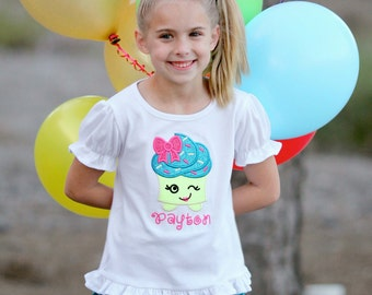 Girl's Cutie Cupcake Shirt with Embroidered Name