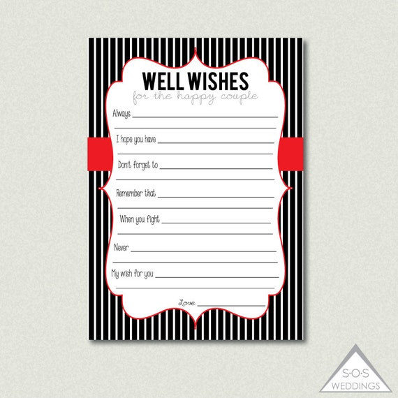 printable well wishes advice for the marriage advice