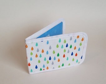 Travel Pass Holder / Card Wallet - Raindrops