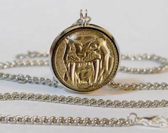 Handmade Mighty Morphin Power Rangers Yellow Ranger Pendant Necklace