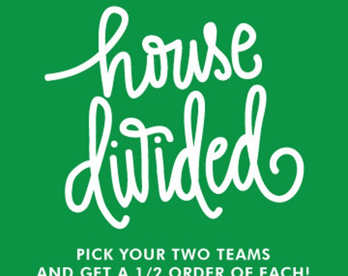 House Divided Cups (Qty 24 - 12 of each Favorite Phrase! )