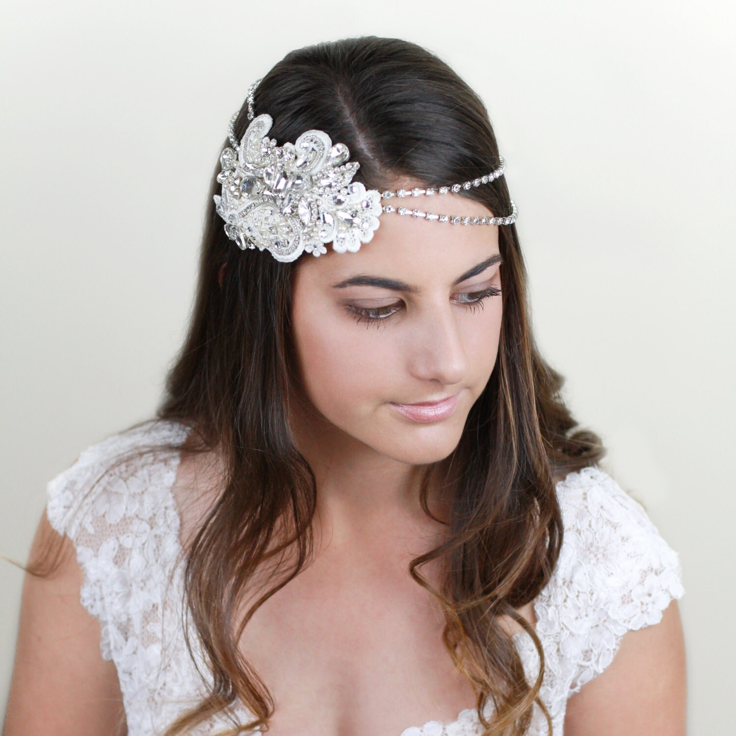 Headpieces For Weddings Australia: LAUREN Bridal Headpiece Vintage Lace Wedding Headpiece