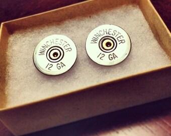 12 Gauge Shotgun Shell Jewelry - Stud Earrings