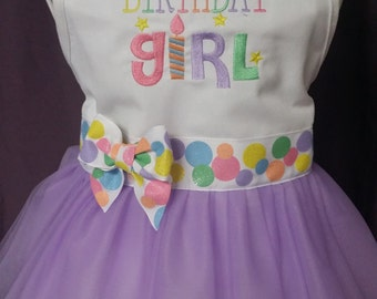 Birthday Girl Froo Froo Apron® - Youth