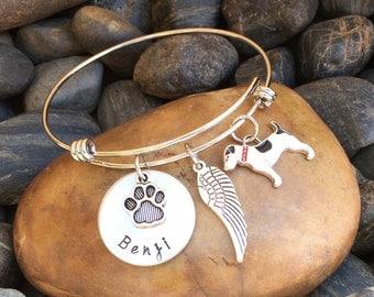 Jack Russell Memorial Bracelet | Jack Russell Memorial Jewelry | Rainbow Bridge Jewelry | Pet Memorial Jewelry | Pet Sympathy Gift