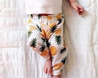 Pineapple Leggings, pineapple, summer, spring,  leggings, pants, baby leggings
