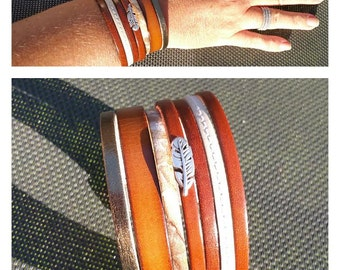 "Cuff leather ""Pati"" Brown"