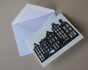Amsterdam Papercut Greetings Card