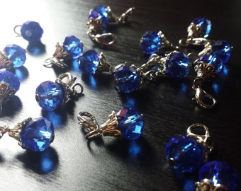 Sapphire Blue Crystal Dangle Charm for Floating Lockets, Necklaces, or Bracelets-Gift Ideas for Women