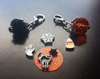 Halloween Floating Charm Set for Floating Lockets-8 Pieces-Gift Idea