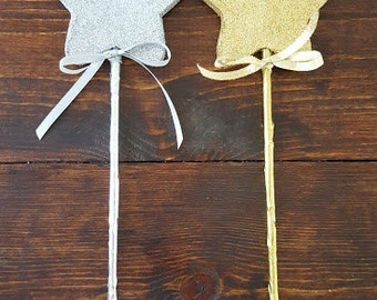 Wooden Star Wands, Star Wand, Twinkle Twinkle Little Star Party, Star Centerpieces
