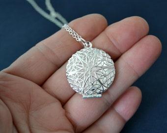 Silver Scent Locket Necklace, Victorian Style Perfume Locket, Silver Filigree Locket,  Filigree Perfume Locket