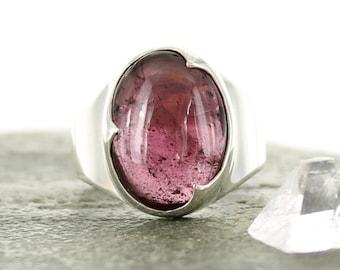 Garnet silver ring. Size 7.5. Natural stone