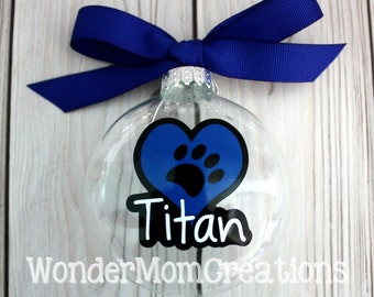 Pet Personalized Ornament; Dog Personalized Ornament; Cat Personalized Ornament