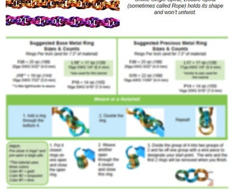 Chainmaille Tutorial - Double Spiral (Beginner) - PDF