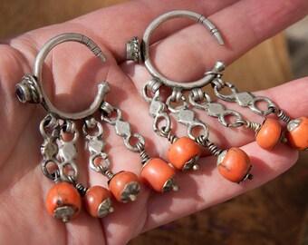 large Berber coral earrings or khrab