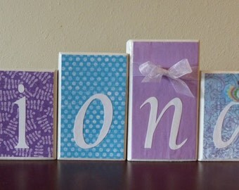 Personalized Name Block Letters - home decor - unique custom gift - name sign for birthdays, baby showers