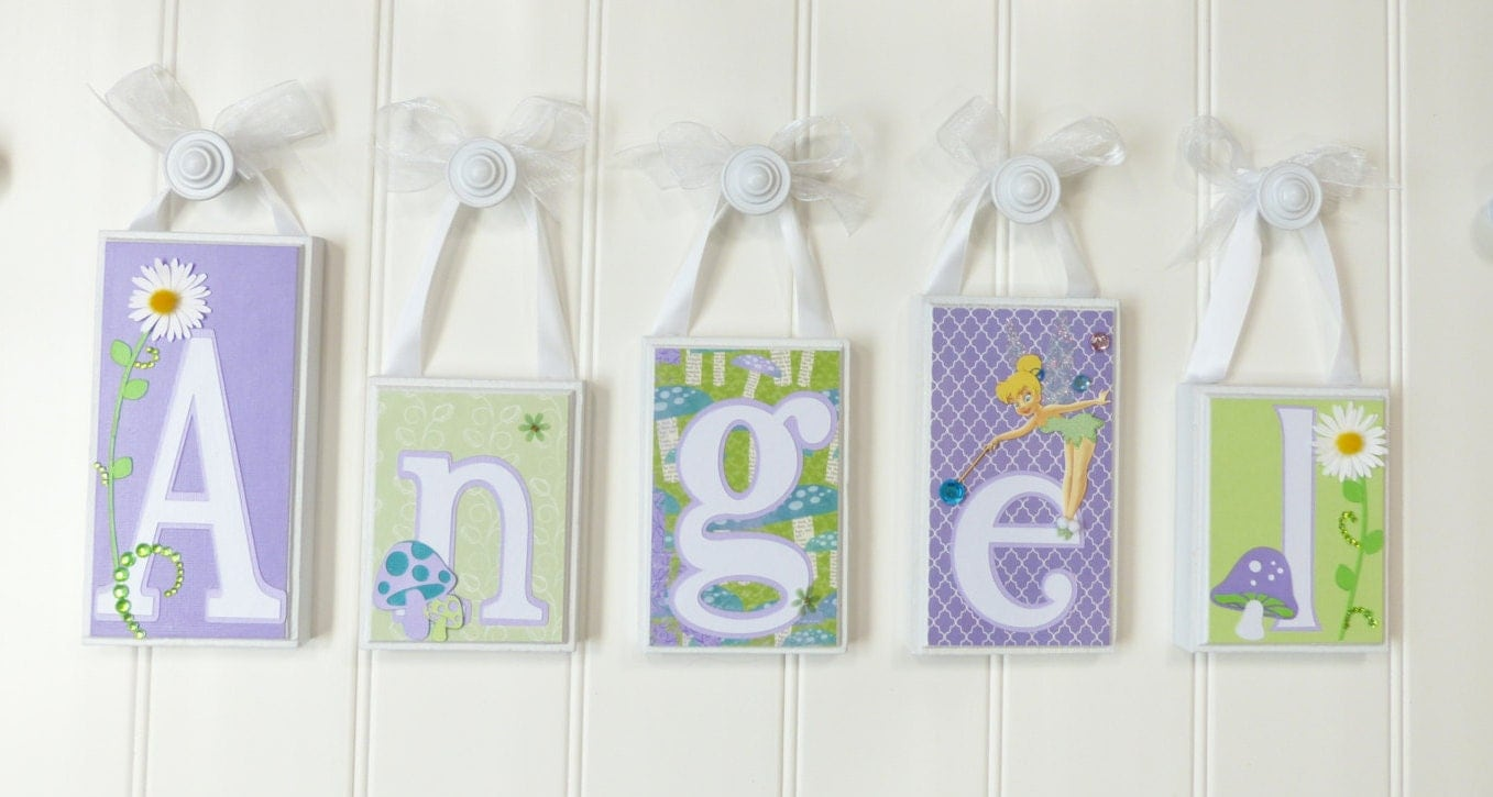 Baby name blocks decor home decor baby name blocks by for Baby name decoration