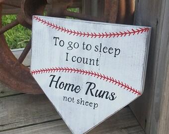 Baseball Nursery Decor To Go To Sleep I Count Homeruns Not Sheep Baby Baseball