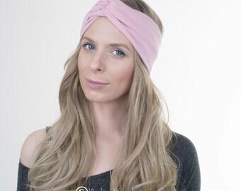Dusty Pink Turban Headband, Yoga Headband, Workout Hairband, Boho Turban, Twisted Headband, Stretchy Headband, Hair Accessory, Boho Fashion