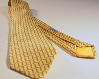 Vintage Hermes Silk Tie.  Like New
