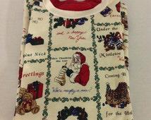 Vintage Women's Christmas Sweatshit, Mock Turtleneck Holiday Shirt, Ugly Chritmas Shirt Size Large