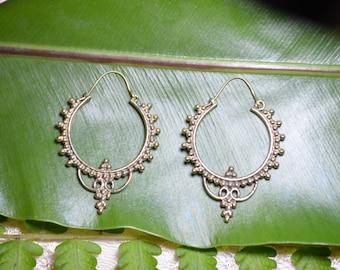 Gypsy Dancer Brass Earrings - Brass Jewelry, Tribal, Psytrance, Goa, Pixie, Gypsy, Belly Dancing, Doof, Festival, Faerie.