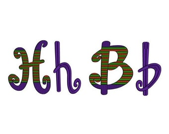 Halloween Machine Embroidery Font Upper and Lower Case Satin Stitch Digitized -Instant Download-2,3,4 inch