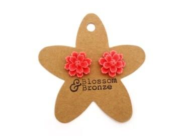 Pink Flower Studs | Studded Earrings