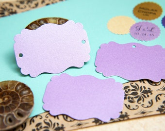 150 Lilac Lavender, Purple Pearlised Rectangle fancy Notecards, Luxury Gift Tags, Blank Tags, Wishing Tree Tags, Wedding Table Place Card