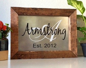 Personalized Family Established Sign Personalized Family Name Sign Custom Last Name Sign Established Sign Wood 14 x 10.5