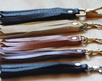 Leather Fringe Keychains; Tassel Leather Key Fobs; Tassel; Leather Tassel Key; Third Anniversary Gift; Tassel Leather; Key Fob Leather