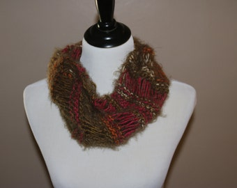 Beautiful Knitted Silky Cowl *READY TO SHIP*