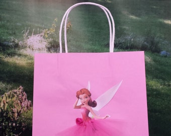 Rosetta fairy party bags, birthday decorations, Tinkerbell birthday gift bag,fairy birthday gift bag,Rosetta gift bag,tinkerbell