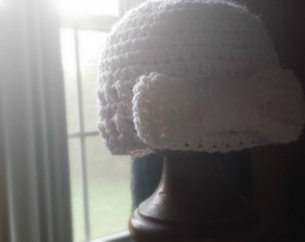 Crochet Infant Bow Hat Available in multiple colors and sizes