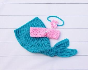 Baby Mermaid Outfit, Crochet Baby Mermaid, Mermaid Costume, Newborn Mermaid, Girl Mermaid Outfit, Mermaid Photo Prop, Baby Mermaid Photo
