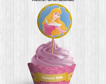 Sleeping Beauty Cupcake Decor