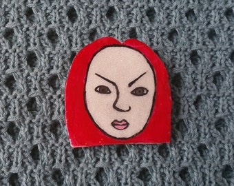 Angry Brooch - Red Head