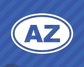 Arizona AZ Oval Vinyl Decal Sticker