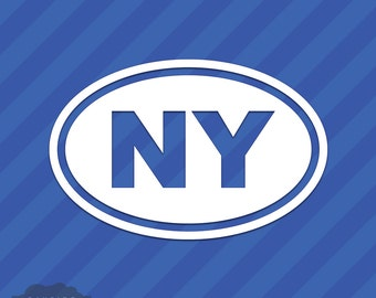 New York NY Oval Vinyl Decal Sticker Big Apple