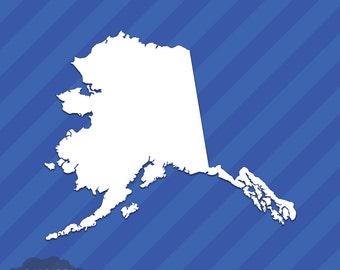 Alaska AK State Outline Vinyl Decal Sticker