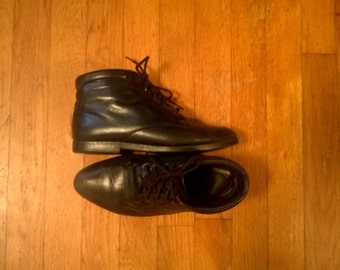 """Danexx """"Austin"""" Leather Lace Up Ankle Boots Booties, 6"""