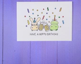 Hoppy Birthday Card.